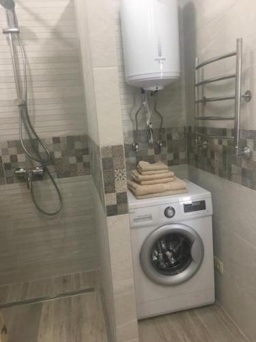 во всех номерах своя ванная комната и стиральная машинка